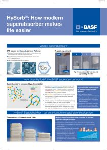 Superabsorber one pager